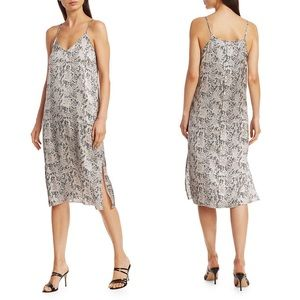 ATM | Snake Print Silk Slip Midi Dress
